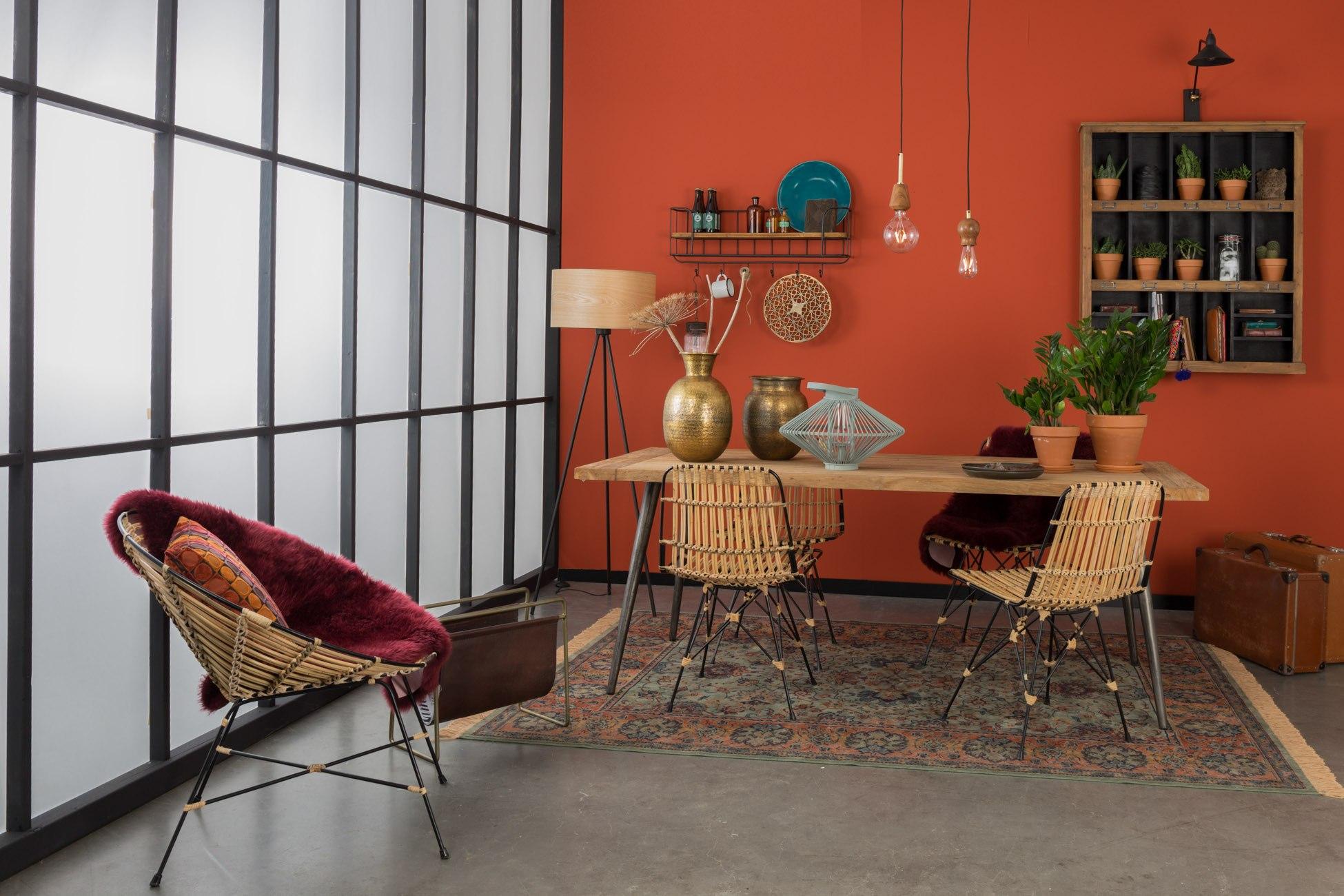 krzesło rattanowe kubu aranzacja w stylu boho