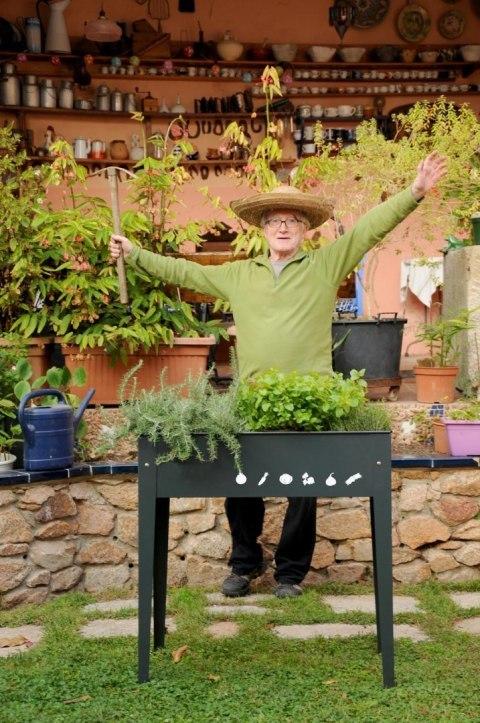 ogródek miejski podwyższona grządka zioła