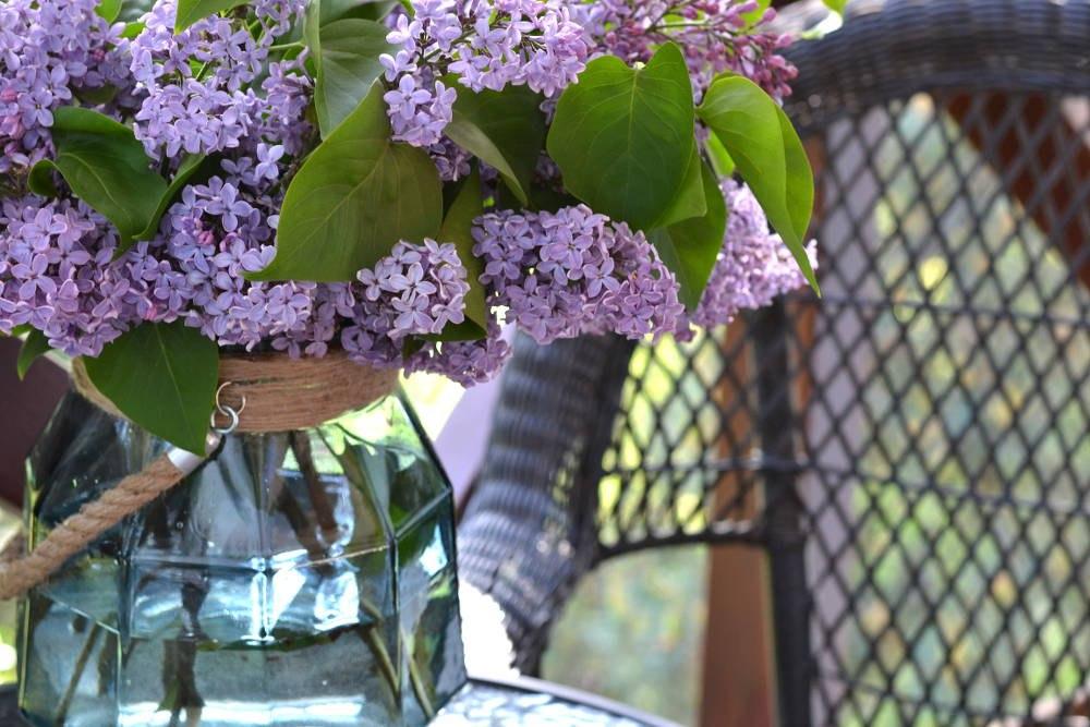 duży lampion szklany ogrodowy