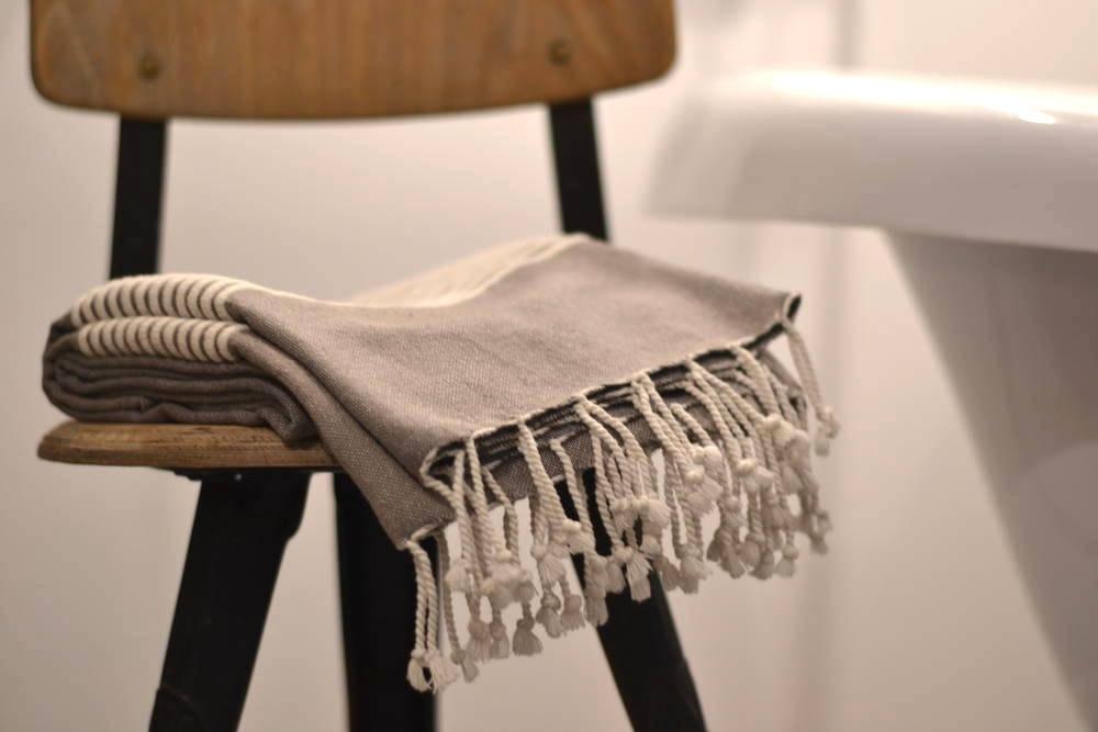ręcznik sauna szary hammam